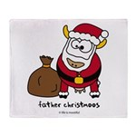 Father Christmoos Throw Blanket