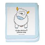 Abominabull Snowcow baby blanket