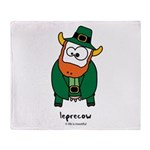 Leprecow Throw Blanket