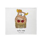 Hula moo Throw Blanket