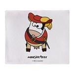 Moosketeer Throw Blanket