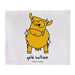 gold bullion Throw Blanket
