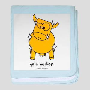 gold bullion baby blanket