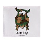 camooflage Throw Blanket