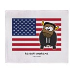 barack cowbama Throw Blanket