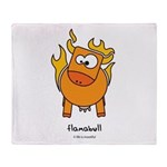 flamabull Throw Blanket