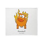 flamabull Throw Blanket