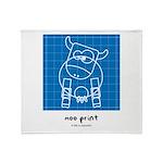 moo print Throw Blanket