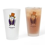 willy woncow Drinking Glass
