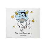 moo landings Throw Blanket