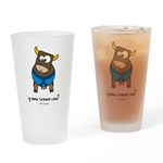 y now brown cow Drinking Glass