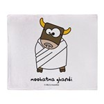 moohatma ghandi Throw Blanket