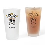 two faced cow Drinking Glass