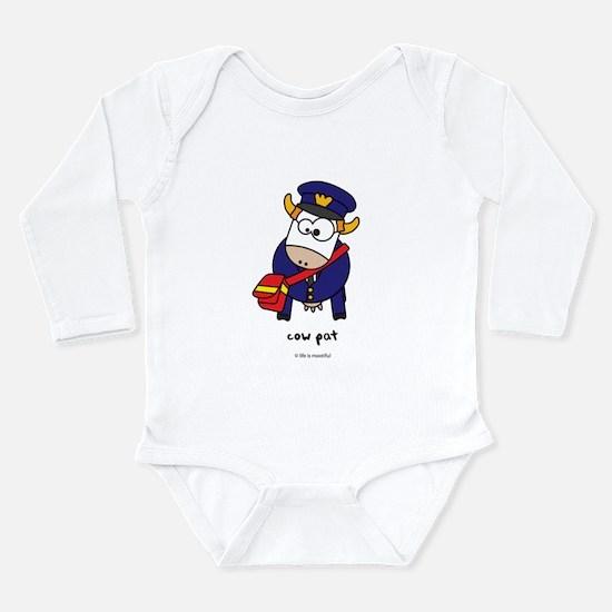 cow pat Long Sleeve Infant Bodysuit