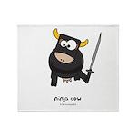ninja cow Throw Blanket