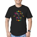 Biology is Fun Men's Fitted T-Shirt (dark)