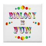 Biology is Fun Tile Coaster