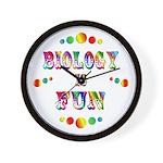 Biology is Fun Wall Clock