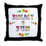 Biology is Fun Throw Pillow