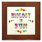 Biology is Fun Framed Tile