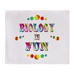 Biology is Fun Throw Blanket