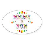 Biology is Fun Sticker (Oval 10 pk)