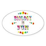 Biology is Fun Sticker (Oval 50 pk)