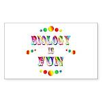Biology is Fun Sticker (Rectangle 10 pk)