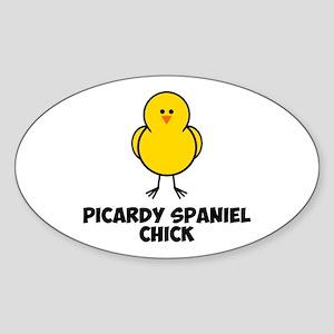 Picardy Spaniel Chick Sticker (Oval)