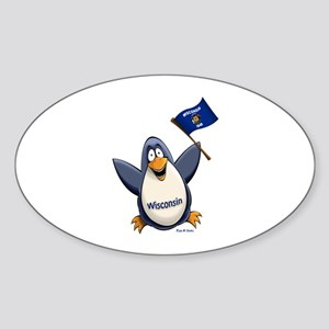 Wisconsin Penguin Sticker (Oval)