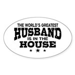The World's Greatest Husband Sticker (Oval)