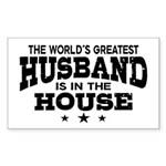 The World's Greatest Husband Sticker (Rectangle)