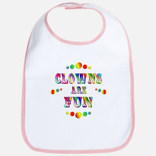 Clowns are Fun Bib