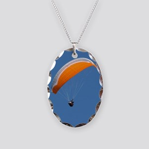 Helaine's Paragliding Necklace Oval Charm