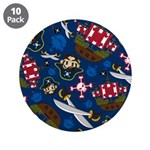 "Cute Pirate Captain 3.5"" Button (10 Pk)"