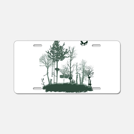 A Natural Band Aluminum License Plate