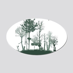 A Natural Band 20x12 Oval Wall Decal