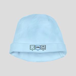 Eat Sleep Soccer baby hat