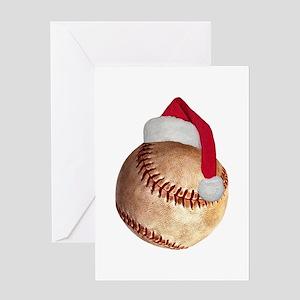 baseball_ball_santa Greeting Cards