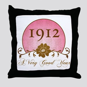 1912 A Very Good Year Throw Pillow
