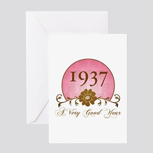 1937 A Very Good Year Greeting Card