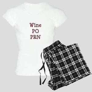 Wine PO PRN Women's Light Pajamas
