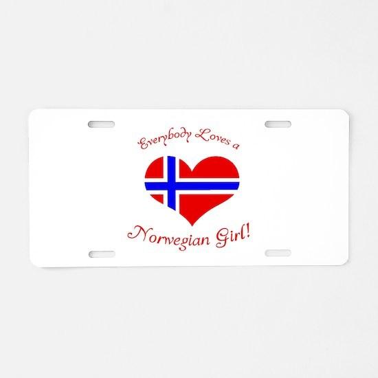 Norwegian Aluminum License Plate