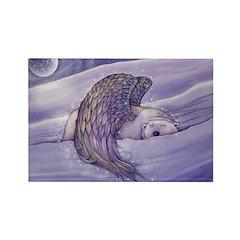Polar Bear Angel Rectangle Magnet (10 pack)