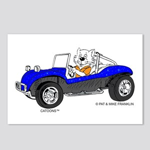 DUNE BUGGY CAT™ Postcards (Package of 8)