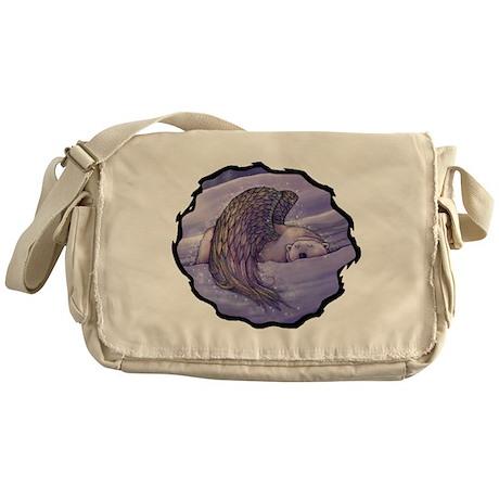 Polar Bear Angel Messenger Bag