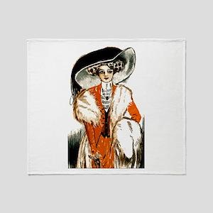 Pretty Lady Design Throw Blanket