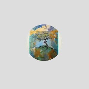 Tree, beautiful, art, Mini Button