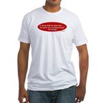 Sin or Jesus Killed Himself 4 Fitted T-Shirt