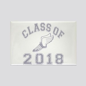 Class Of 2018 Track & Field Rectangle Magnet